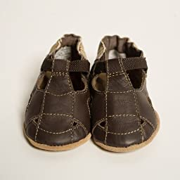 Robeez Soft Soles Sandal Crib Shoe (Infant/Toddler),Brown/Brown,0-6 Months (1-2 M US Infant)