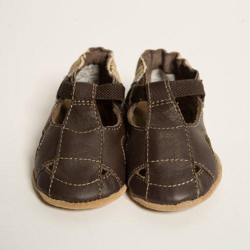 (Robeez Soft Soles Sandal Crib Shoe (Infant/Toddler),Brown/Brown,6-12 Months (2.5-4 M US Infant))