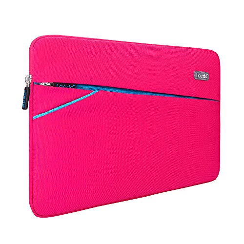 Lacdo 13-13.3 Inch Waterproof Fabric Laptop Sleeve Case Bag Notebook Carrying Case for Apple MacBook Pro 13.3-inch Retina Display MacBook Air 13' iPad Pro / Microsoft Surface Book Dell HP Asus, Pink