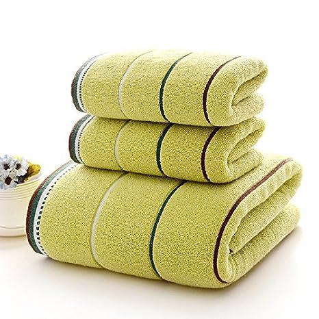 mmynl 10 piece-water absorción de toallas de algodón puro de adulto verde: Amazon.es: Hogar
