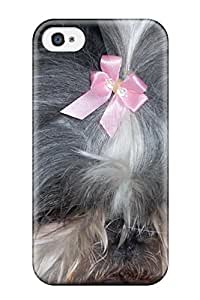 New Style Protective Case For Iphone 4/4s(artistic Shih Tzu In Bows)