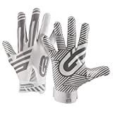 Grip Boost G-Force Football Gloves Youth and Adult Sizes (White