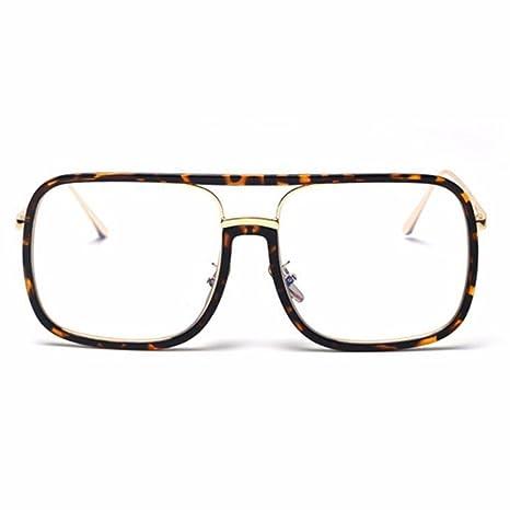 LXKMTYJ Occhiali da sole femmina retrò occhiali da sole viso tondo occhiali da sole big box occhiali da sole, scatola nera
