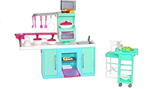 My Fancy Life Dollhouse Furniture- Cooking Corner Kitchen Play Set