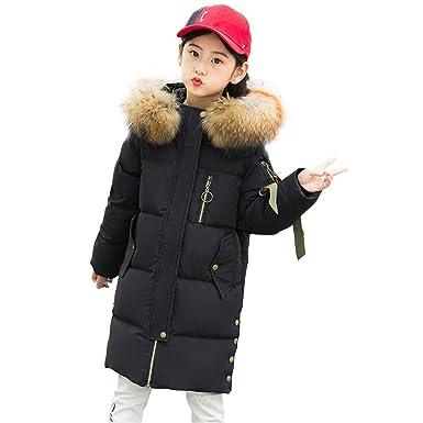 c269f2b0a SITENG Big Girls Winter Parka Down Coat Puffer Jacket Padded Overcoat with  Fur Hood 4 5
