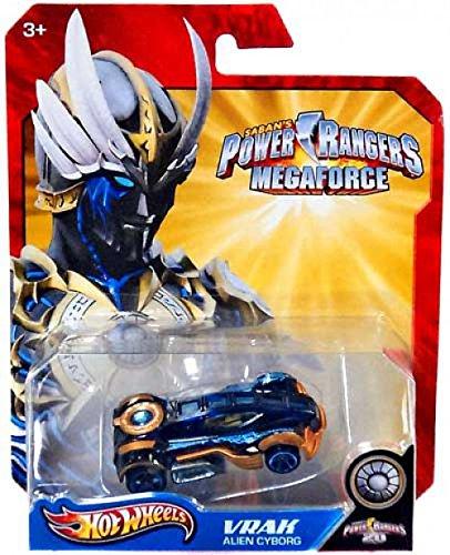 Hot Wheels Power Rangers Megaforce 1:50 Die Cast Car Vrak Alien Cyborg]()