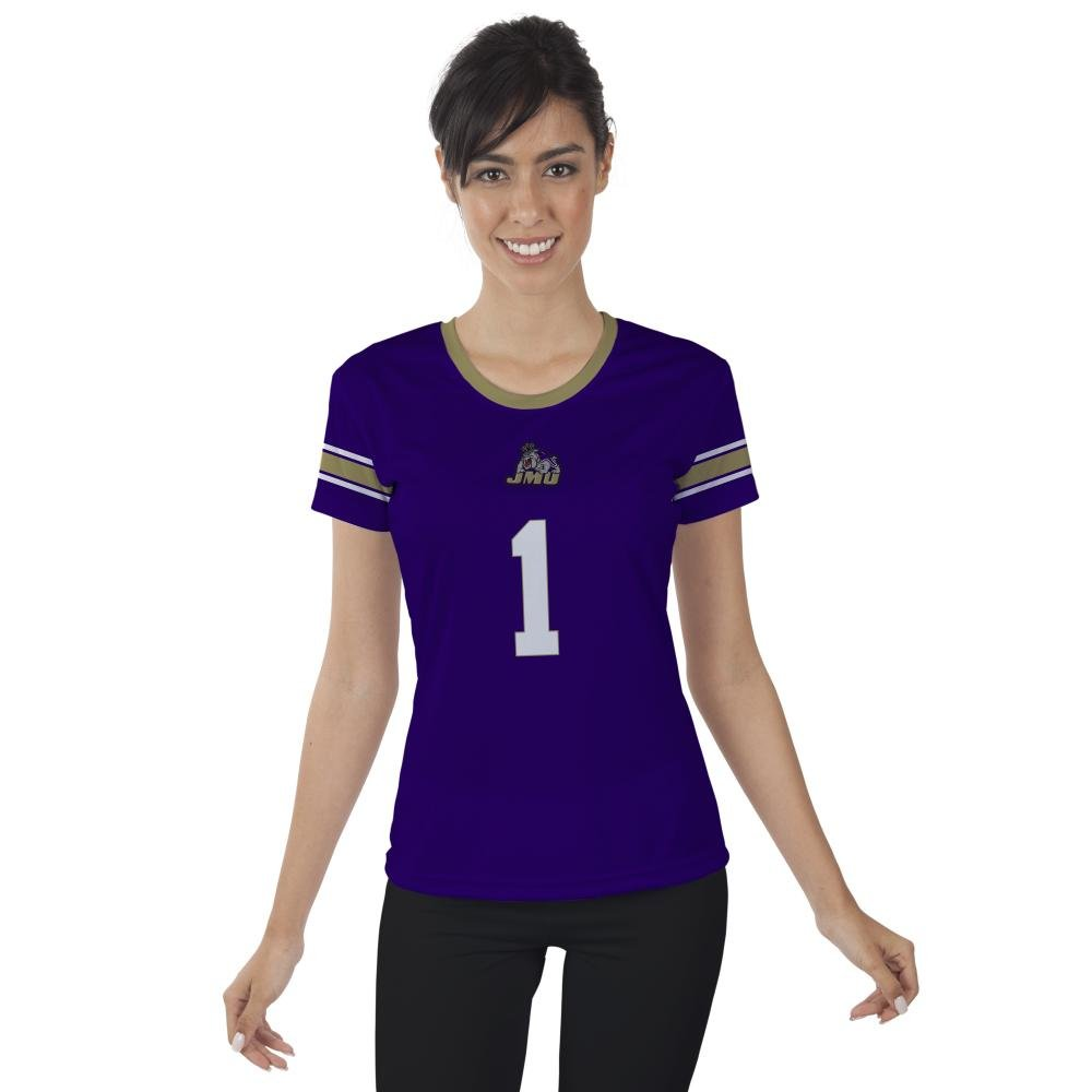 James Madison University JMU Dukes Womens Short Sleeve Shirt Jersey Design