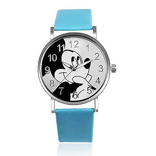 Hermosa Pulsera Relojes de Mickey Mouse Reloj de Moda Correa de Reloj de Mujer Estudiante Cartoon Watch: Amazon.es: Relojes