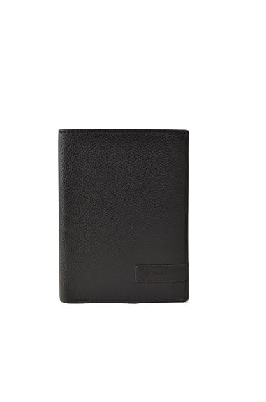 Monedero de cuero negro para hombre, marca francesa Le ...