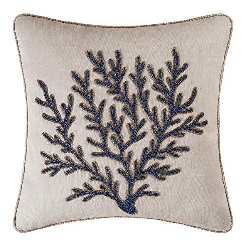 Bella Coastal Decor Coral Beaded Pillow