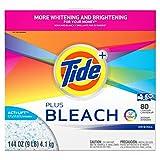 tide oxi clean detergent - Tide Plus Bleach Powder Laundry Detergent, Original, 80 Loads, 144 Ounce