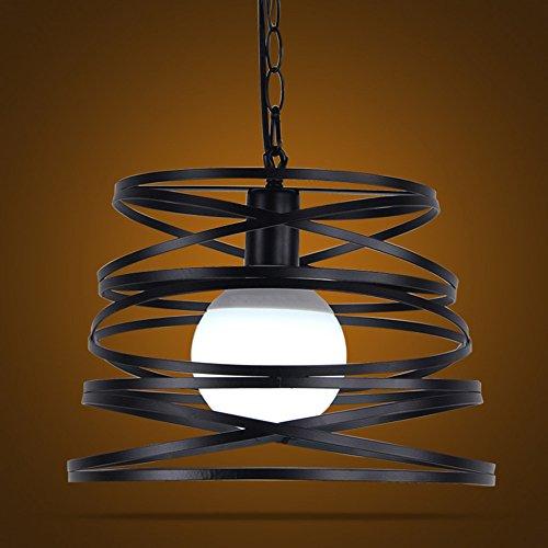 NIUYAO Lampe Suspension Lustre Style Cylindre en Métal Industriel Vintage Chandelier Hanging Light Réglable-Noir