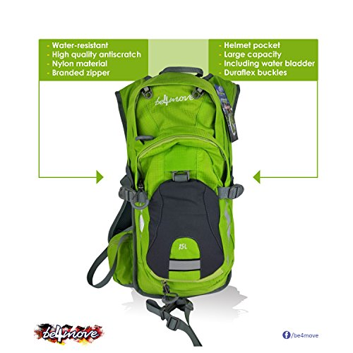 Hydration backpack water backpack 2L Water Bladder Running Hiking Cycling Skiing, Climbing (green)