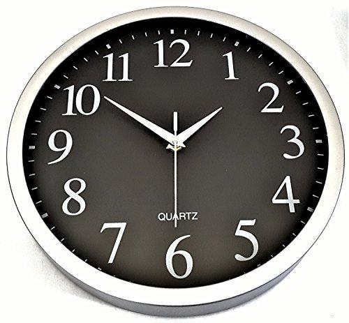 Clock Brushed Chrome Modern Quartz product image