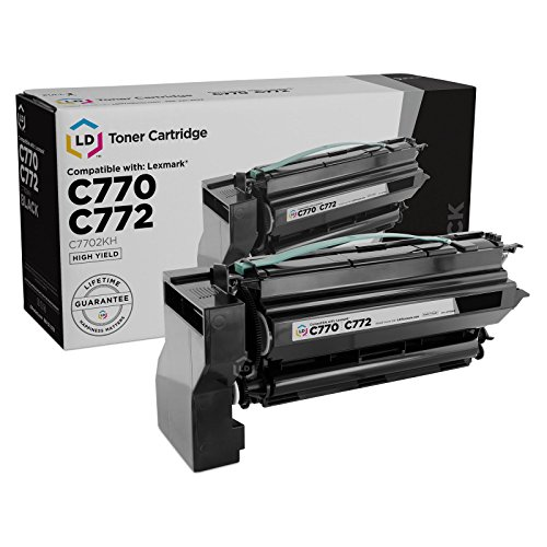 (LD Remanufactured Toner Cartridge Replacement for Lexmark C7702KH High Yield (Black))