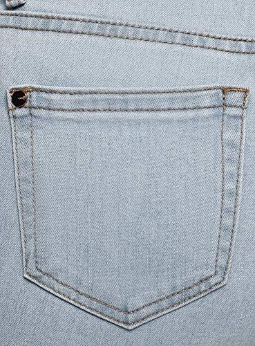 Mujer Azul Ultra Skinny Vaqueros 7000w Oodji De Alta Cintura Hvgq7aw