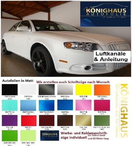 Könighaus 3 62 M2 Schwarz Matt Autofolie 500 X 152 Cm Blasenfrei Mit Anleitung Auto