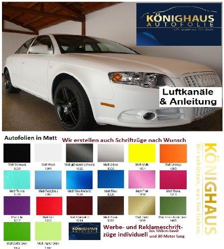 K/önighaus/ applicazione senza bollicine con istruzioni /Pellicola Nero Opaco 400/x 152/cm