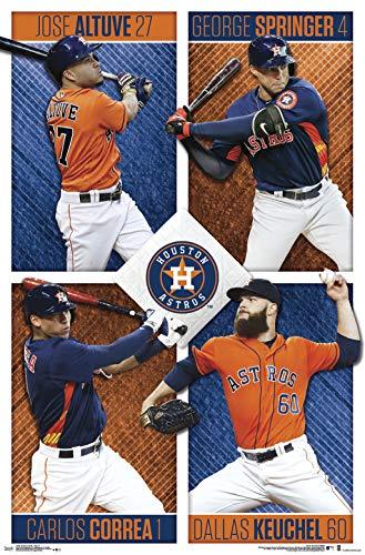 Trends International Houston Astros-Team Clip Bundle Wall Poster, 22.375
