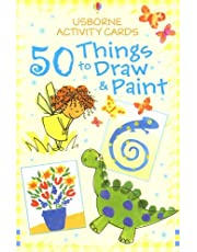 50 Things to Draw and Paint (Usborne Activity Cards)