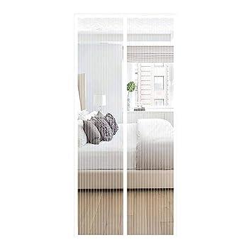 ZFHTAO Fliegengitter T/ür Magnetisch, Magnet Vorhang Wohnzimmer Fliegenvorhang Moskitonetz Terrassent/ür 70x190cm 28x75inch