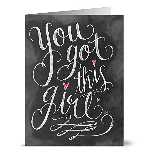 All Occasion Greeting Cards - 36 Pack - You Got this Girl - Unique Design - KRAFT ENVELOPES INCLUDED - Blank Greeting Card - Glossy Cover Blank Inside - By Note Card Caf
