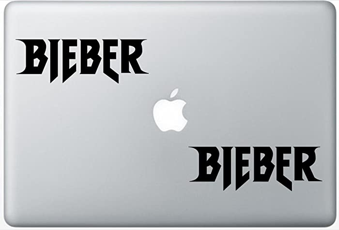 Justin Bieber Logo FlashDecals2768 Set Of Two (2x) , Decal , Sticker , Laptop , Ipad , Car , Truck