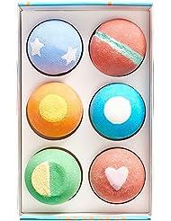 Bath Bombs Gift Set - Handmade in USA - 6x5oz - All Natural and Organic - Gift Idea for Women, Teens, Girlfriend, Kids – Lush Bath Bomb withMoisturizing Shea Butter for Spa Bath