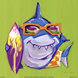 Look Out Shark by Anthony Morrow Art Print, 8 x 8 inches