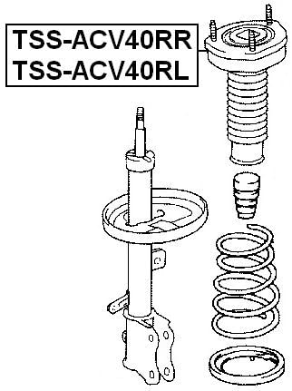 4875033130 Right Rear Shock Absorber Support For Toyota Febest