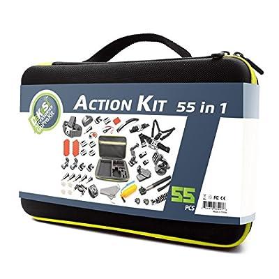 DeKaSi Accessories Kit Case for Gopro HERO 5/4/3/SJ4000/SJ5000/SJ6000 (55-IN-1) by DeKaSi