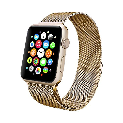Apple Watch Band Swees 38mm Milanese Loop Stainless Steel Bracelet Strap Replacement Wrist With Unique Magnet Lock For Series 2 2016