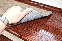 Dean Light Gray Indoor/Outdoor Non-Skid Carpet Stair Treads/Runner Rugs 23\