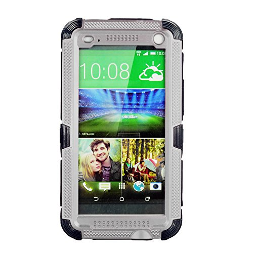 Cobblehome™ Aluminum Metal Corning Gorilla Glass Case, Newest Extreme Shockproof Dustproof Weatherproof Limited Waterproof Case Military Heavy Duty Protection Hard Cover, 3 Months Warranty, Perfect Hiking Camping Running Outdoors for HTC One M7 (Silver)