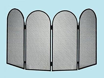PARASCINTILLE L 4 puertas para chimenea L. 95 x H. 50 cm.: Amazon.es: Bricolaje y herramientas