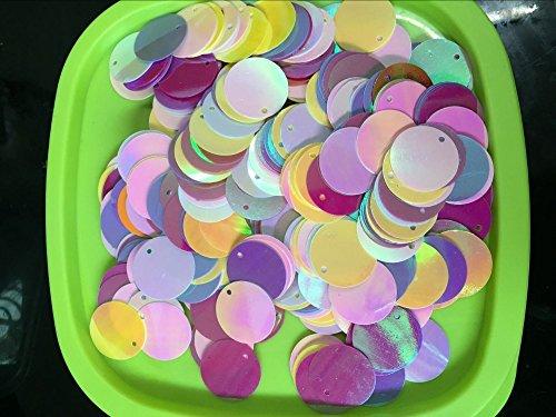 BarFeer 260Pcs/Lot Large Round Sequins 20Mm Pvc Sequin Flat Round Paillette Hologram Decoration With Side Hole Belly Dance Mix Colors Ab