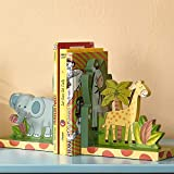 bookends for kids Fantasy Fields - Sunny Safari Animals Hand Crafted Kids Bookends Set (2 Pieces)