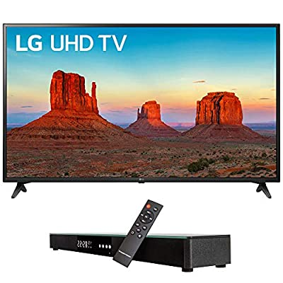 "LG 60UK6090 60"" 4K HDR Smart LED UHD TV w HDR (2018) (LG60UK6090PUA 60UK6090PUA 60UK6090P) + Deco Gear Home Theater Surround Sound 31"" Soundbar & 6 Optical Toslink 5.0mm OD Audio Cable"