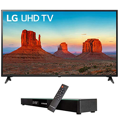 LG 60UK6090 60″ 4K HDR Smart LED UHD TV w HDR (2018) (LG60UK6090PUA 60UK6090PUA 60UK6090P) + Deco Gear Home Theater Surround Sound 31″ Soundbar & 6 Optical Toslink 5.0mm OD Audio Cable