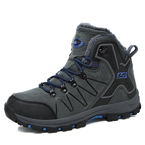 Hiking Boots Men Women Trekking Shoes High Rise Warm Non Slip Breathable Outdoor Fully Fur Sneakers