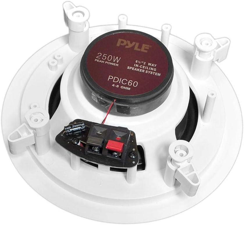 a coppia 2 altoparlanti coassiali a 2 vie compatibile con PYLE PDIC60 250 watt rms 500 watt max diametro 16,50 cm 165 mm 6,5 da soffitto hotel casa