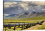 Lucas Payne Gallery-Wrapped Canvas entitled Semi truck driving the Haul Road along the Trans Alaska Oil Pipeline, Arctic Alaska