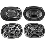 (2) Polk Audio MM692 6x9 900w 3-Way Car Audio Speakers+(2) Kicker 6x9 Speakers