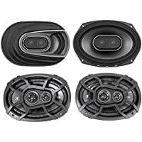 "(2) Polk Audio MM692 6x9"" 900w 3-Way Car Audio Speakers+(2) Kicker 6x9 Speakers"