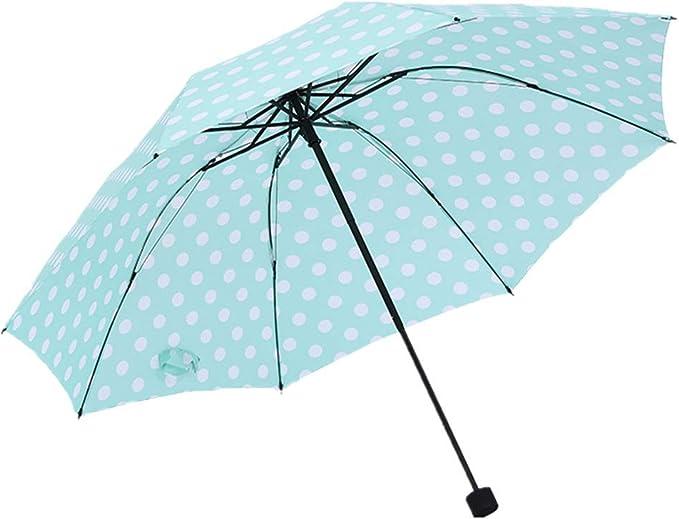 YI-SHAN Paraguas de Viaje a Prueba de Viento Plegable Paraguas de Lluvia, Sombrilla UV Sombrilla Plegable Sombrilla a Prueba de UV para Toda Temporada Azul 1: Amazon.es: Equipaje