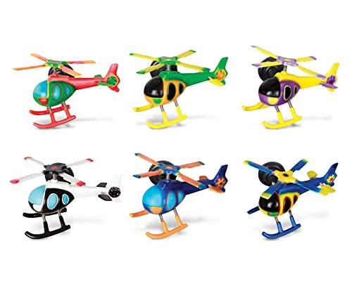 Puzzled Helicopter Refrigerator Bobble Magnet (Set of 6)