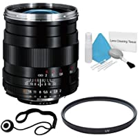 Zeiss 28mm f/2.0 Lens for Nikon Digital SLR Cameras + 58mm UV Filter + Lens Cap Keeper + Deluxe Cleaning Kit DavisMAX Bundle - International Version (No Warranty)