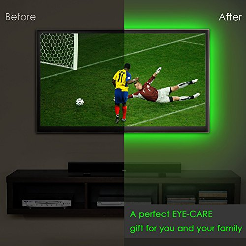 LED Strip Lights, USB TV Backlight Kit RGB Bias Lighting with Remote(78inch/2m), Ambient Home Theater Light, Accent Lighting to Reduce Eye Strain and Increase Image Clarity by Searik (Image #8)