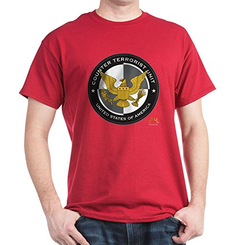 CafePress 24 CTU Logo Dark T Shirt 100% Cotton T-Shirt Cardinal ()
