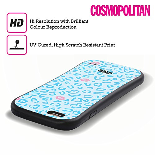 Official Cosmopolitan Sky Blue Sassy Leopard Hybrid Case for Apple iPhone 6 / 6s